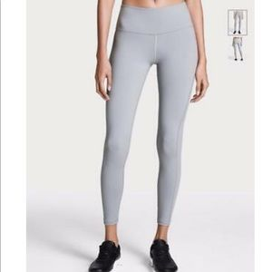 VSX SPORT GRAY MESH LACE UP KNOCKOUT LEGGINGS